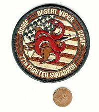 USAF PATCH AIR FORCE 77 FIGHTER SQ DESERT VIPER W/VELKRO