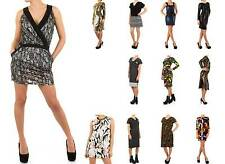Damenkleider mit V-Ausschnitt aus Baumwollmischung