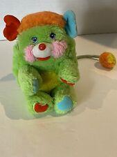 "Vintage Green Popples Putter Plush Mattel 7"" 1980s Stuffed Animal"