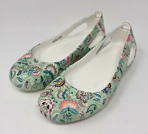 Crocs Kadee Graphic flats Womens size 7 White/Floral > NEW > RARE!!