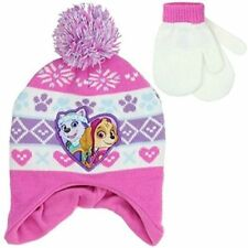 Nickelodeon Little Girls Toddler  Paw Patrol Hat and Matching Glove Mitten Set