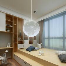 18W Modern 3D Printing Moon Ceiling Hanging Light Pendant Lamp Chandelier Decor