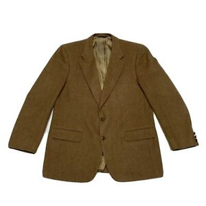 Burberrys Vintage Camel Hair Blazer Suit Jacket Men's Size 46-48 No Tag See Desc