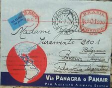 L) 1937 BRAZIL, WORLD, MAP, RED, RS 01 200, AIR MAIL, PANAIR, CIRCULATED COVER
