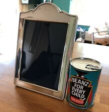 More details for lovely solid silver photo frame carrs sheffield arched design 9.5 x 6.5 inches