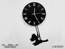 Girl Swinging  - Pendulum Wall Clock