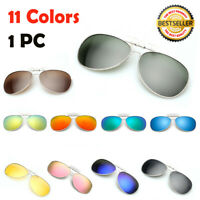 Polarised Clip On Flip Sunglasses UV400 Polarized Fishing Eyewear 11 Colors New