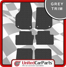 VAUXHALL ZAFIRA (2005-2011) RUBBER CAR MATS WITH GREY TRIM GENUINE UCP 1322