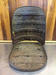 Triumph TR2 TR3 TR3A TR3B • Original Steel Tilting Seat Pan Set. Used.    T1678