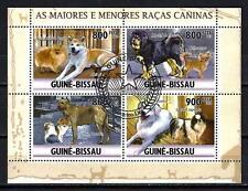 Chiens Guinée Bissau (35) série complète de 4 timbres oblitérés