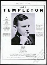 1940 Alec Templeton photo piano recital tour booking trade print ad