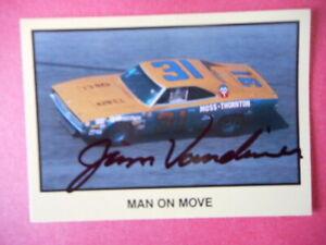 """Jim Vandiver signed 1990 MOR #31 DODGE CHARGER """"MAN on MOVE"""" Card #226"""