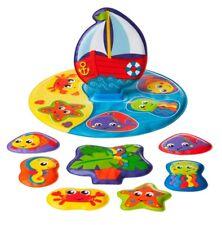 Badepuzzle Meerestiere 9 teilig, 1 Set