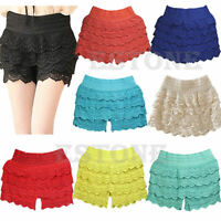 HOT Sell New Sexy Fashion Mini Lace Tiered Short Skirt Under Safety Pants Shorts