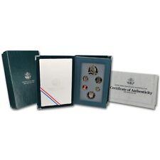 1990 US Mint Prestige Set, Eisenhower Silver $ , 6 Proof Coins, mint pkg, coa