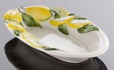 Bassano italienische Relief Keramik Servierschale Platte Zitrone NEU 29x18