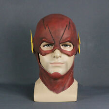 2017 The Flash Mask Cosplay Allen Helmet Halloween Full Face Latex Mask Hood New