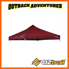 OZTRAIL GAZEBO DELUXE 3m x 3m REPLACEMENT CANOPY - RED NEW MODEL