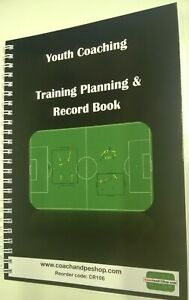 Youth Football Coaching Training Planning & Record Book - CR106