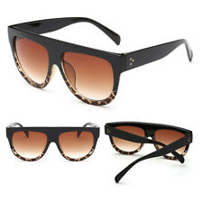 e34c359bdb Oversized Flat Top Shadow Shield DESIGNER Celebrity Men Ladies Women  Sunglasses Black Leopard