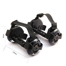 Adjustable Adults PU Flashing Wheel Heelys Roller Skating On Heel Wheels Black