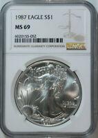 1987 American Eagle Silver Dollar / 1 Oz / NGC MS69 / Mint State 69 🇺🇸 w/bonus