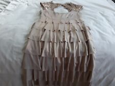 Frank Lyman Size 10 Gold Sequined Cocktail Dress ~ Fancy Dress Flapper Dress