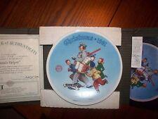 "1991 Bradford Exchange Plate ""Santa'S Helper"" #4199B"