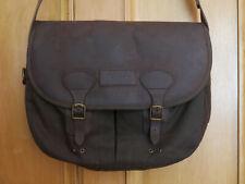£129 Mens Barbour Wax Leather Tarras olive waxed bag messenger shoulder