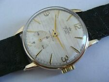 1964 Smiths Deluxe 9ct Gold case, Hand wind.Classic English Watch