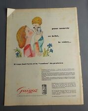 PUB PUBLICITE ANCIENNE ADVERT CLIPPING 190817 / LAIT EN POUDRE POUR BEBE GUIGOZ
