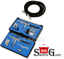 Complete Airbrush Kit Dual Action Precision Painting Make Up Brush Air CT3746