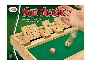 Shut The Box Traditional Family Wooden Board Dice Game A Fun Gift by Toyrific