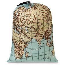 Kikkerland Maps Travel Laundry Bag holds 3kg washing