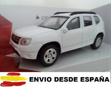 1/43 DACIA DUSTER COCHE DE METAL A ESCALA COLECCION DIE CAST BLANCO