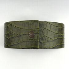 TOMMY BAHAMA faux alligator green hard case - sunglasses, eyeglasses, VGUC