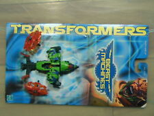 Transformers 1999 Beast Machines Obsidian 100% Compl W/Card C-6 Hasbro Vehicon!!