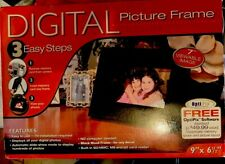 Ronco Opti Pix Digital Picture Frame 7' Viewable Image Black With Power Cord NEW