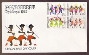 Montserrat 1983 FDC Christmas Carnival, unaddressed, sc#516-519