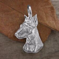 Sterling Silver DOBERMAN DOG Pendant or Charm