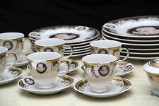 ESS e SERVIZIO CAFFE 6 persone 33 pezzi MADE ITALY MEDUSA ORO LIMOGE dorato