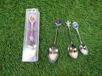 Souvenir Spoons X4 Bundle Torremolinos Sandringham Chester Bottle Bush West Aus