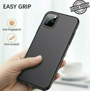Case For iPhone 12 11 Pro Max 7 8 6s Shockproof Matt Silicone Black Gel Cover