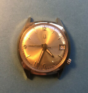 Vintage 1972 Accutron Mens Watch. 33mm. As-Is. Does Not Run. Parts Or Repair