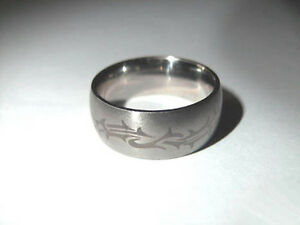 Ring Edelstahl Edelstahlring Tribal 19 mm Gr. 60 *NEU*