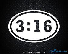 Oval 3 16 Sticker decal John Christian Jesus bible God