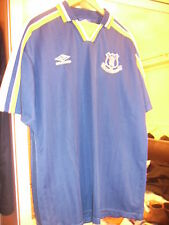 EVERTON TRAINING TOP BLUE YELLOW WHITE XL NEW UMBRO