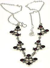 Garnet Ankura  Necklace Jewelry Genuine 925 Sterling Silver Artisan Handcrafted