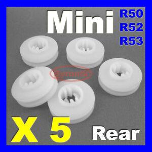 MINI REAR WHEEL ARCH TRIM FASTENERS CLIPS R50 R52 R53 Cooper S One Convertible