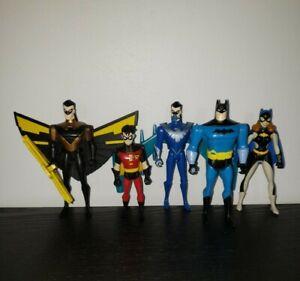 1998 Kenner Dc Comics Batman Figures Lot (Batman, Nightwing, Robin, Batgirl)